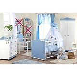 Babyzimmer Kleiner Prinz Schrank Kommode, Bett und Lattenrost