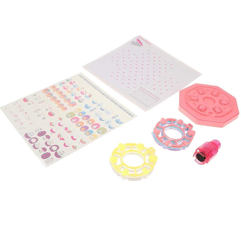 高齢者スカルクばかF Fityle DIYネイルアート 子ども 遊びおもちゃ 可愛いネイルデカール 爪の装飾 全2カラー - #1