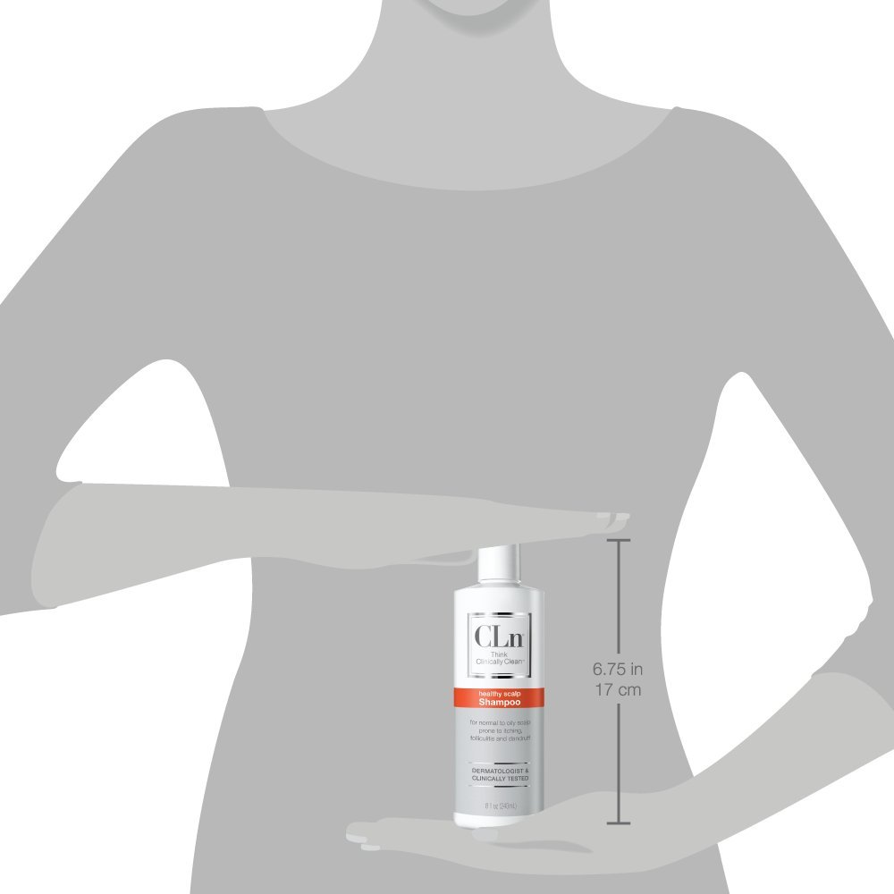 CLn Shampoo for Scalp Prone to Folliculitis, Dermatitis, Dandruff, Itchy and Flaky Scalp (8 oz) : Beauty