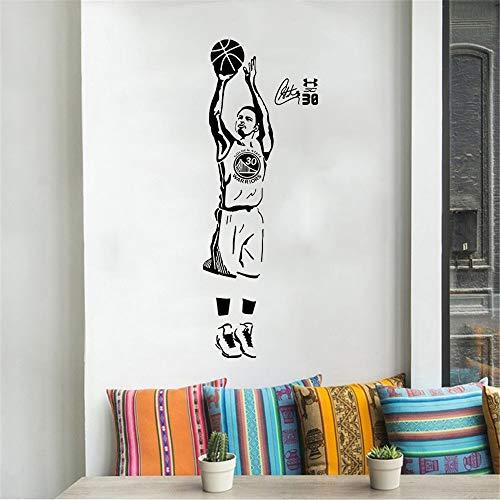 NBA Basketball Sports Star Player Warriors Stephen Curry Jump Shot Etiqueta de la pared Vinilo Coche Calcomanía Boy Fans Dormitorio Sala de estar Club Decoración para el hogar Mural