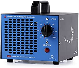 Airthereal MA5000 Commercial Ozone Generator, 5000mg/h O3 Machine Home Air Ionizers Deodorizer for Rooms, Smoke, Cars and Pets, Blue