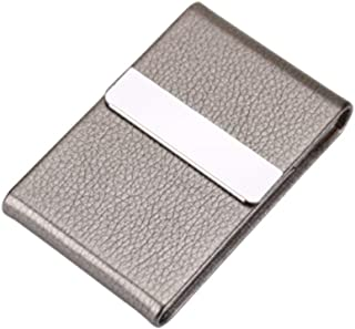 KYK Cigarette Case, 20-Piece Stainless Steel Cigarette Case, Men, Automatic Smoke, Ultra-Thin, (Color : Silver)