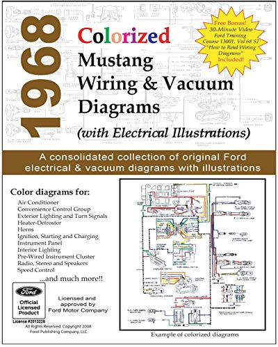 1968 Colorized Mustang Wiring and Vacuum Diagrams (English Edition)