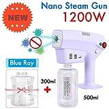 EMGOD Cheveux Nano Pistolet Salon De Coiffure, Désinfection Bleu Nano Vapeur Pistolet, 0.26Nm Nano Pulvérisation La Distance De Pulvérisation Bouche Jusqu'à 1.5M Contient Deux Bouteilles Volumétrique