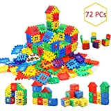 AdiChai Multi Colored 72 Pcs Mega Jumbo Happy Home House Building Blocks