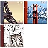 Innova Home Álbum de Fotos de Viaje con Capacidad para 200 Fotos de 10 x 15 cm, Varios Paquetes