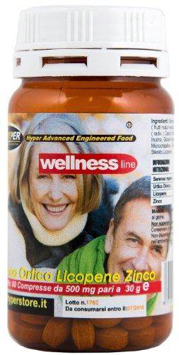 Suplementos bienestar Próstata | 60 tabletas | formulación con Serenoa Repens (Saw palmetto) Nettle Lycopene | remedio natural | 1 paquete 2 meses de tratamiento