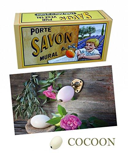 La Savonnerie de Nyons Rotatif Laiton Porte Savon Fleur de Coton 260 grammes, Multi/Couleur, Taille Unique