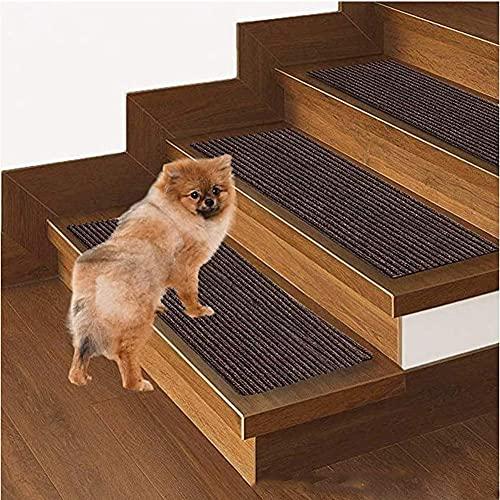 YWYW Peldaños de Escalera para Interiores y Exteriores, alfombras aptas para Mascotas, Fundas para alfombras Antideslizantes, Autoadhesivas y de fácil instalación, Lavables para niños/Segurida