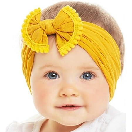 PASTEL YELLOW baby nylon bow baby headwrap baby headband bow baby headband bow bow on alligator clips.
