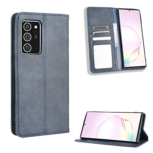Snow Color Galaxy Note 20 Hülle, Premium Leder Tasche Flip Wallet Case [Standfunktion] [Kartenfächern] PU-Leder Schutzhülle Brieftasche Handyhülle für Samsung Galaxy Note20 - COBYU010234 Blau