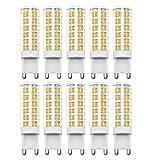 Bombillas G9 LED, RANBOO, 7W Equivalente a Bombillas Halógena de 60W Blanco Cálido 3000 K 450lm AC 220-240V, 360 ° Ángulo de Haz, No Regulable, 10 Unidades