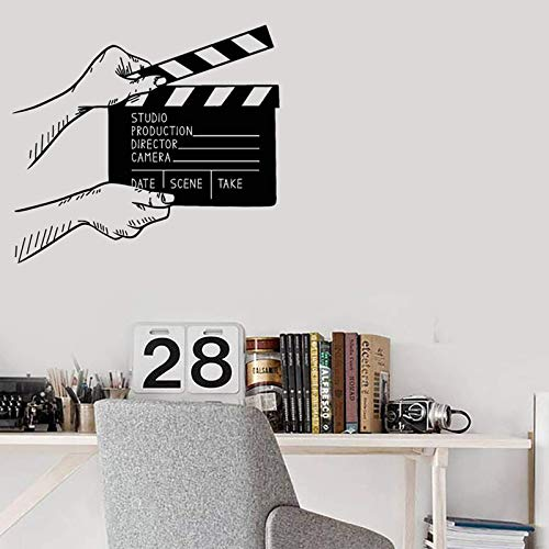 AGiuoo Calcomanía de Vinilo para Pared, decoración de Cine, Pegatinas de Sala de Cine, decoración de Estudio de película, Mural 64x57cm