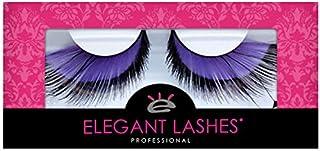 Elegant Lashes F152 Premium Purple and Black Feather False Eyelashes Halloween Dance Rave Costume