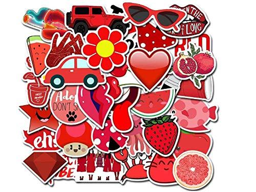 votgl Waterdichte PVC Rood Meisje Stickers Gitaar Skateboard Koffer Kinderen Grappige Graffiti Stickers Kinderen Klassieke Speelgoed 50 stks