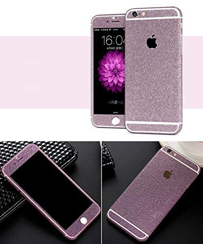 Design Glamoures Sticker für Apple iPhone 5 5S SE 6 6S Skin Glitzerfolie Protector Folie Schutzfolie Hülle Slim Sticker Film in Champagner, Gold, Pink, Grün, Lila (iPhone 6, 6S, Lila)