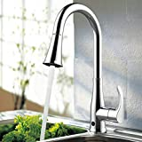 atalawa Touchless Kitchen Faucet, Kitchen Sink Faucet with Pull Down Sprayer, Dual Function Pull Out Spray Head, One Hole and 3 Hole Deck Mount, Single Handle For Automatic Motion Sensor, Chrome