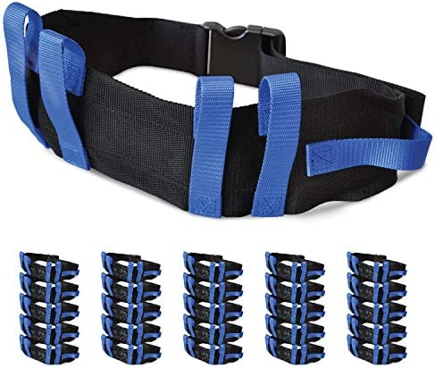 """NYOrtho Transfer Gait Belt with 6 Handles - Quick Release Buckle for Elderly and Patient Care 
