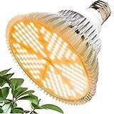 MILYN 100W Bombilla LED para Cultivo Espectro Completo Lámpara LED Plantas Crecimiento Interior E27 Luces Led Cultivo 150 LED Grow Light para Interior Plantas Hidroponia Crecimiento y Floracion