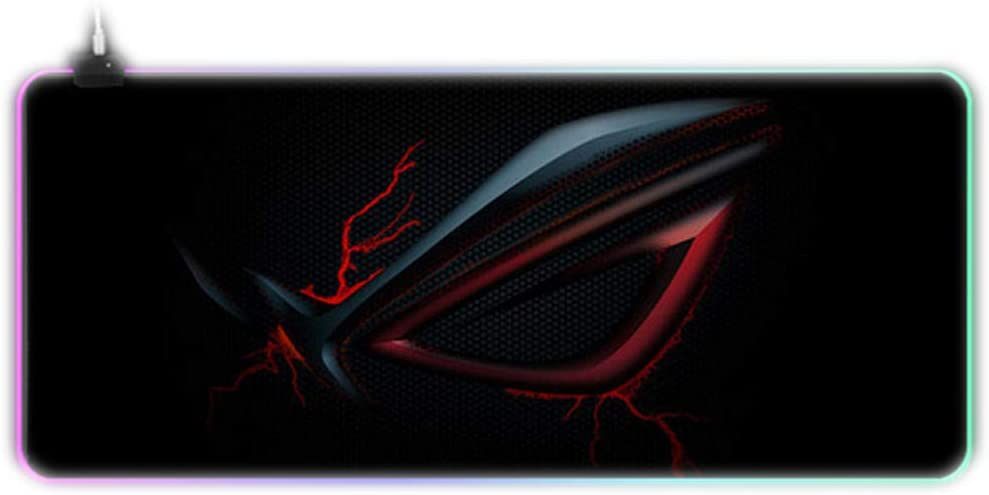 Custom Large Gaming RGB ASUS Mouse Pad Gamer XXL Keyboard Rubber MousePad USB Wired LED Big Backlight Computer Desk Mouse Mat-Dark Grey_400x900x4mm