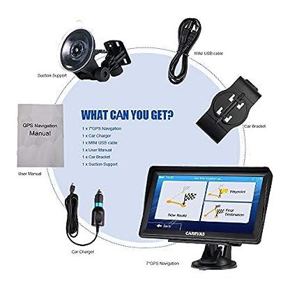 GPS-Navigation-fuer-Auto-Navigationsgeraet-Landkarte-CARRVAS-7-Zoll-Navi-fuer-Deutsch-und-EU-2020-Neueste-Karten-Spracherinnerung-POI-Spurassistent-und-Karten-Update-Lebenslanges-Kostenlos