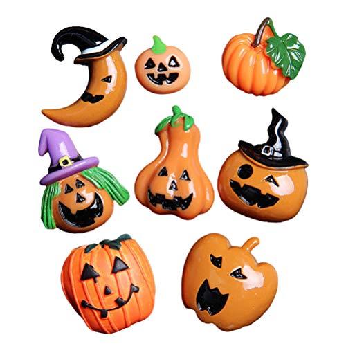 Tomaibaby 25 Pcs Halloween Pompoen Charm Pompoen Plaksteen Kralen Cabochons Versieringen Voor Jewelrying Maken Halloween…