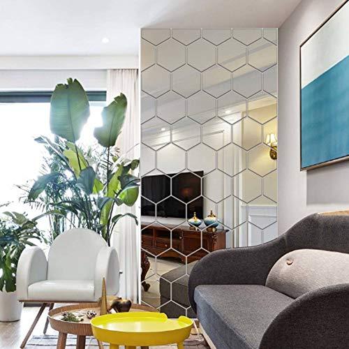 FOMBV Muursticker Zeshoekige honingraat decoratieve D acryl spiegel muur stickers voor thuis decoratie