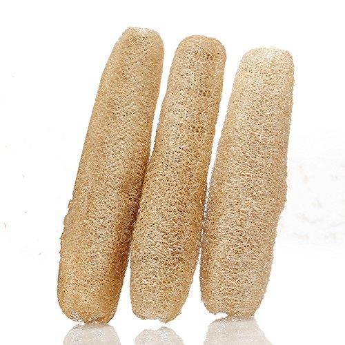 100% Natural Loofah Body Skin Exfoliating Bath Sponge Scrubber Layboo Natural Premium Quality Organic Loofah Scrubber Exfoliating Bath Scrubber Sponge Luffa Bath Body Sponge Towel Pack of 3