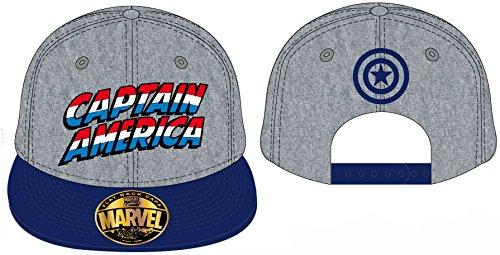Avengers Cap Captain America Flat Back Gorra Gorro Marvel Comics Pantalla Gorro...