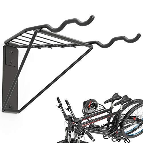 TORACK Bike Storage Rack, 2 Bicycle Hanger, Mountain Bike Wall Mount,...