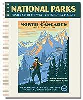 National Parks ポスター WPA 月間プランナー 2021 7.5インチ x 9.75インチ スパイラル綴じ