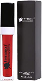 Ferrarucci Matte Long Lasting Lip Gloss - FLC34 Red, 7ml