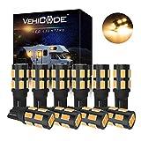 VehiCode 12V 921 922 912 906 LED Bulb Soft Warm White 579 904 916 918 Interior Dome Light Replacement Kit for RV Camper Trailer Marine Boat T10 T5 Wedge Outdoor Malibu Landscape Garden Lamp (10 Pack)