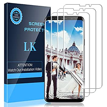LK 3 Pack Screen Protector Compatible With Samsung Galaxy S9 Flexible Film HD Clarity Case Friendly-FL352