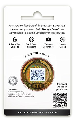 Bitcoin Cold Storage Coin Store | 1AV Ounce 999 Fine Copper | Securely Store & Encrypt Cryptocurrencies
