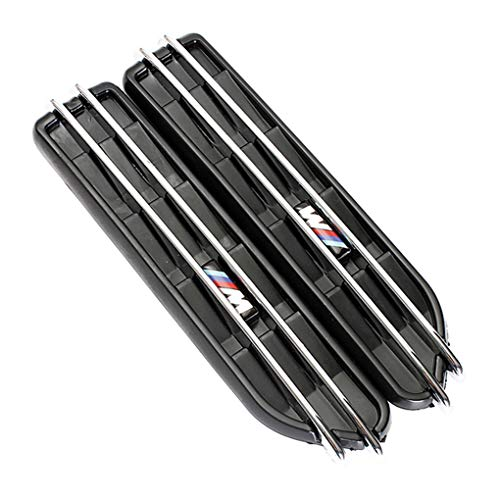 Uzinb Reemplazo Negro de Malla Lateral Fender Aire Orificios de Parachoques Parrilla de M5 E60 E61 E39 E90 E46 M3