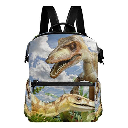 MALPLENA Animali Compsognathus Dinosaur Borsa Scuola Daypack Zaino Escursionismo