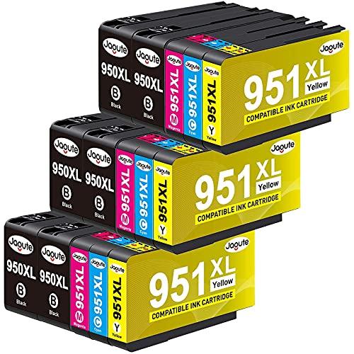 Jagute 950XL 951XL Druckerpatronen Kompatible für HP 950XL/951XL Tintenpatronen für HP Officejet Pro 8620 8610 8600 8630 8640 8615 8616 8625 8660 8100 251dw 276dw (15er)