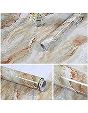 YSJSPOL behang 60cmx10M keuken PVC muurstickers marmeren aanrecht stickers badkamer zelfklevend waterdicht behang