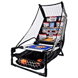 Franklin Sports Basketball Arcade Game - Table Top Bounce A Bucket Shootout- Indoor Electronic Basketball Game...