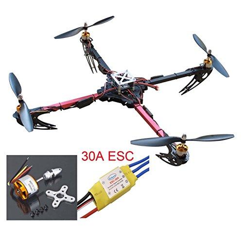 Hobbypower X525 Quadcopter Glass Fiber Folding Kit ARF With Mini KK2.15 Flight Control Board  + 1000KV Motor +30A ESC