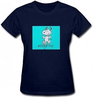 トップス スヌーピービーグルハグスフルブリード Women T-Shirt レディーズ Tシャツ