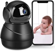 WiFi IP Camera 1080P Pet Camera Indoor Home Security Surveillance Camera System Baby Monitor with with Two-Way Audio, Night Vision, Motion Detection, Cloud Storage - iOS/Andriod/PC Available