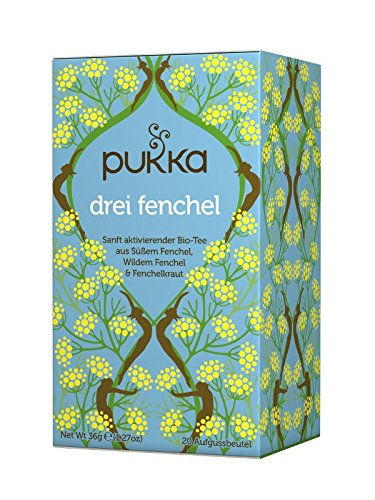 PUKKA Bio Drei Fenchel Tee, 1er Pack (20 x 1,8 g Teebeutel) – BIO