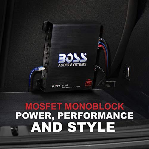 BOSS Audio Systems R1100M Riot Series Car Audio Subwoofer Amplifier