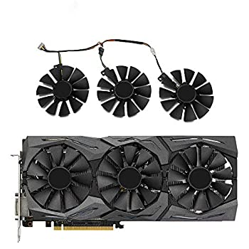 TELESON New 87MM Everflow T129215SU DC 12V 0.50AMP 4Pin 4 Wire Cooling Fan for ASUS GTX980Ti R9 390X 390 GTX1070 Video Card CoolerAs Replacement Fan Mining GPU  A Group of Three