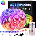HUOWANG LED Strip Lights 32.8ft /10m Color Changing LED String Lights,with 44-Key IR Remote,for Room,Bedroom,TV, Kitchen, Holiday Decoration, Bright RGB 300 LEDs Lights Easy Installation