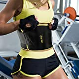HBT GEAR Waist Trimmer Belt for Men & Women - Fast Weight Loss Stomach Fat Burner Sweat Belt Waist Trainer w/Bonus Included