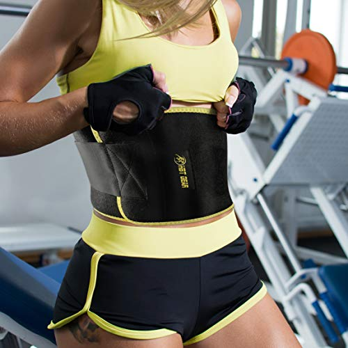 HBT Gear Waist Trimmer Ab Belt Includes Free Carrying Bag - Stomach...