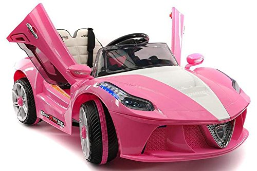 PINK Ferrari ride-on car for girls